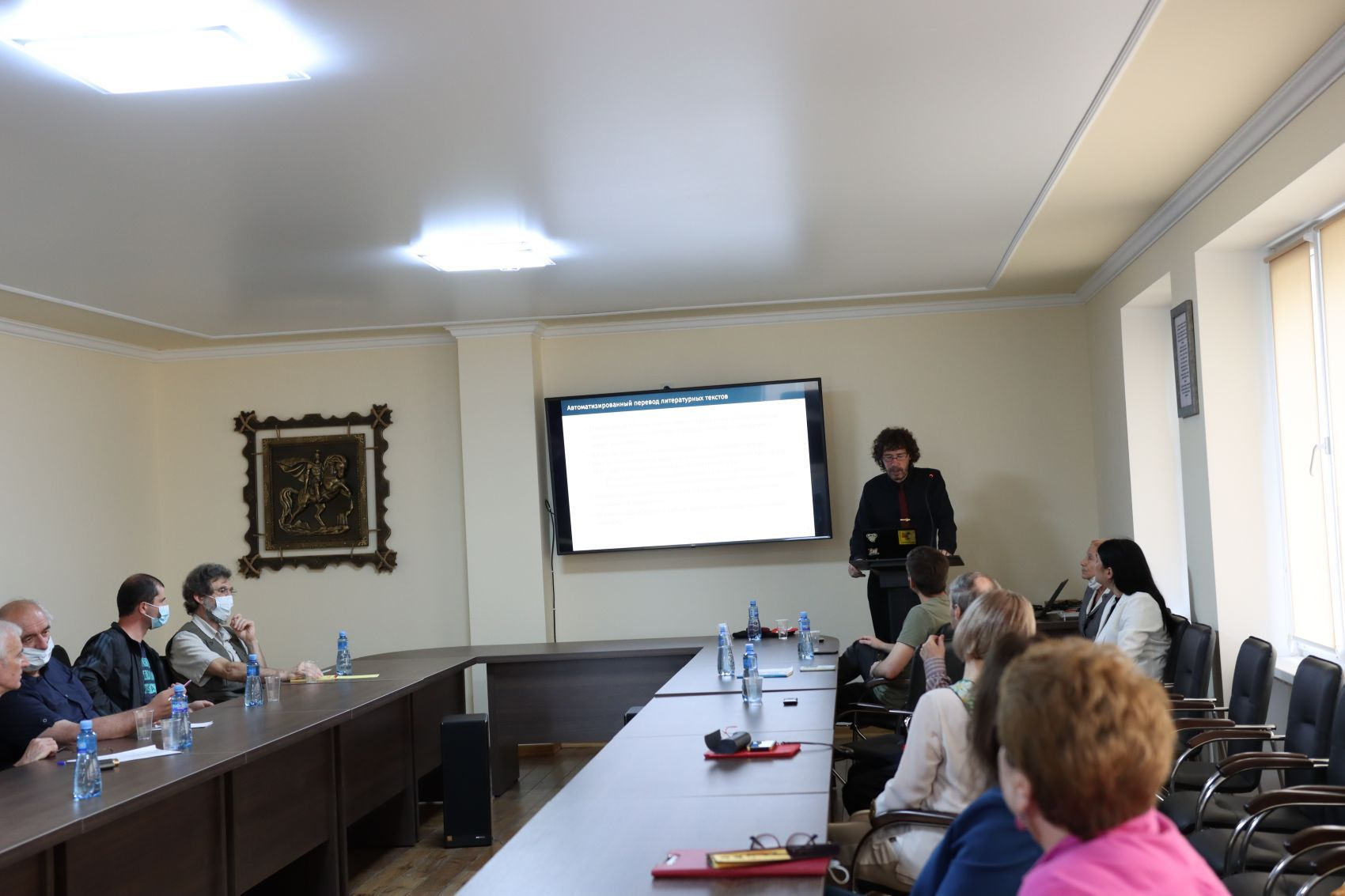 Dr. Tristan Miller speaks at Abkhaz State University